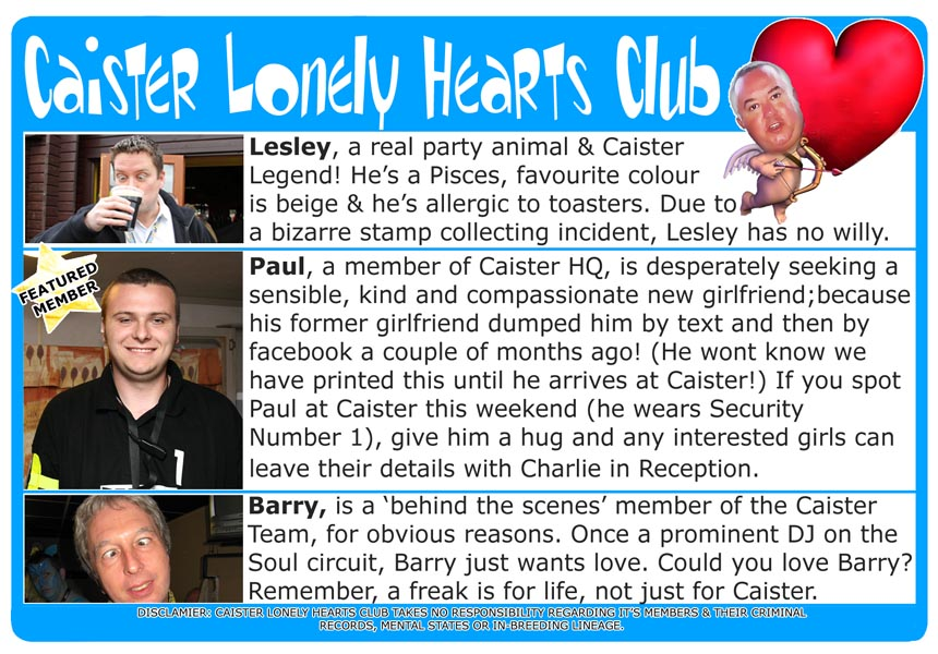 Caister Lonely Hearts